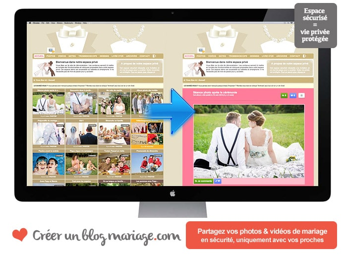 Cr er un site photos vid os pour son mariage forum mariage for Idee de site web a creer