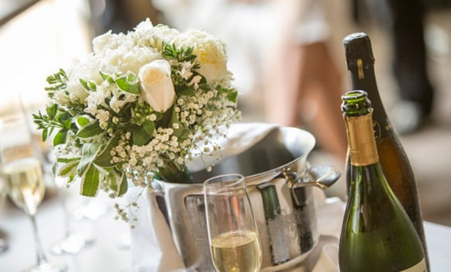 bouteille champagne mariage
