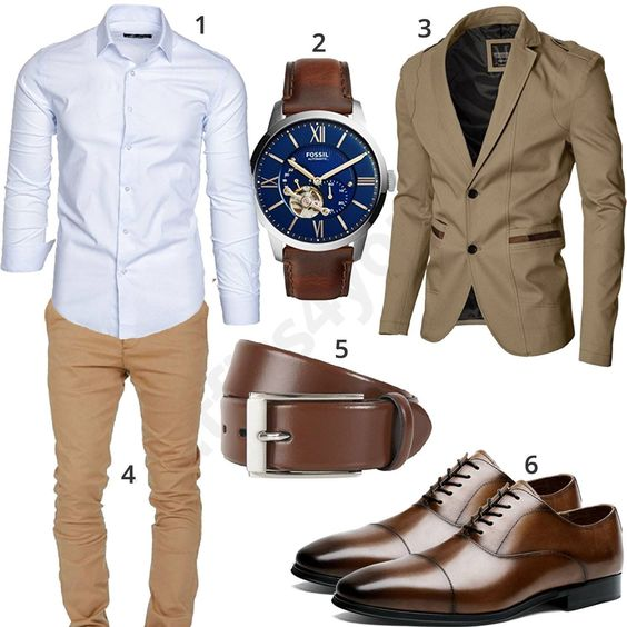 tenue homme chino chemise veste chaussures accessoires