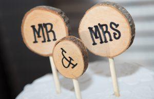 décoration mariage en bois